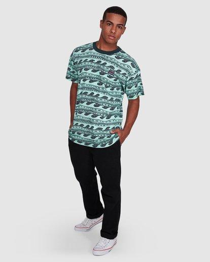 6 Rack Stripe Short Sleeve Tee Green 9503030 Billabong