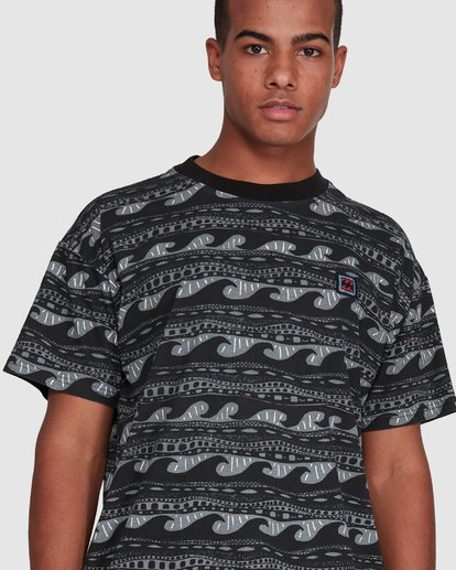 4 Rack Stripe Short Sleeve Tee Black 9503030 Billabong