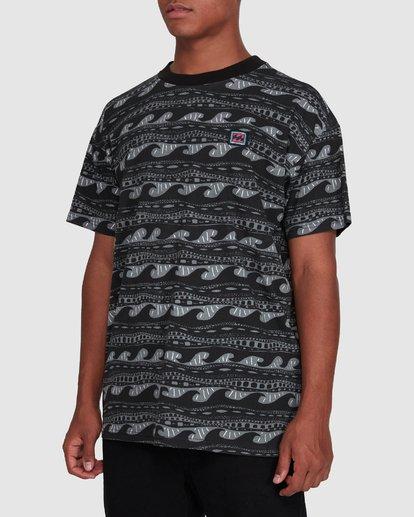2 Rack Stripe Short Sleeve Tee Black 9503030 Billabong