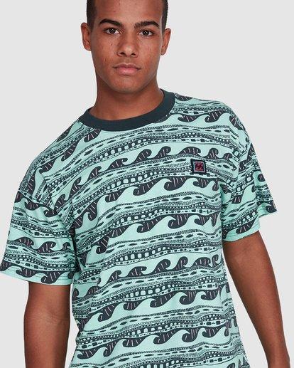 4 Rack Stripe Short Sleeve Tee Green 9503030 Billabong