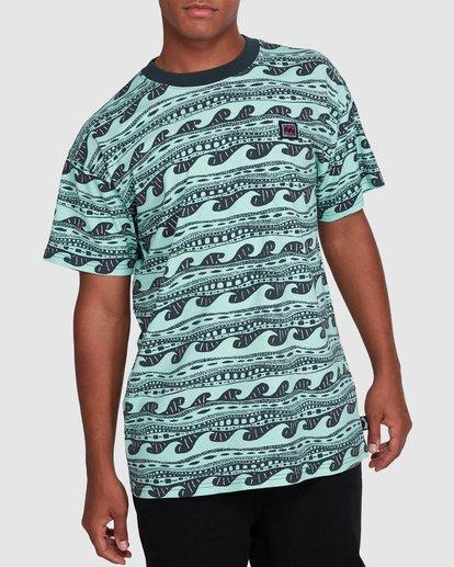 1 Rack Stripe Short Sleeve Tee Green 9503030 Billabong