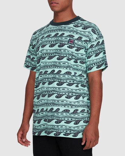 2 Rack Stripe Short Sleeve Tee Green 9503030 Billabong