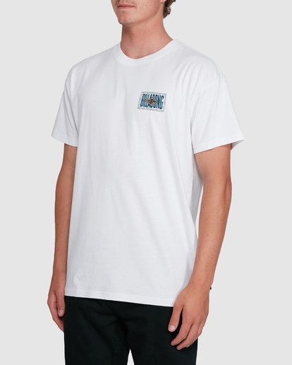 1 Shadows Short Sleeve Tee White 9503034 Billabong