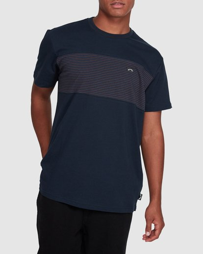 1 Banded Diecut Short Sleeve Tee Blue 9503036 Billabong