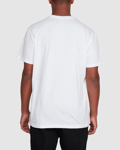 3 Banded Diecut Short Sleeve Tee White 9503036 Billabong