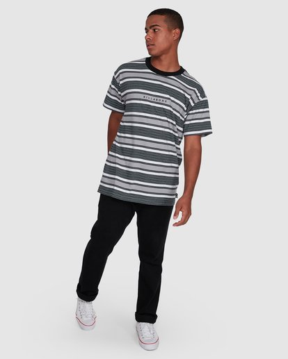 6 Mix Up Stripe Short Sleeve Tee Grey 9503037 Billabong