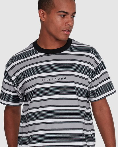 4 Mix Up Stripe Short Sleeve Tee Grey 9503037 Billabong