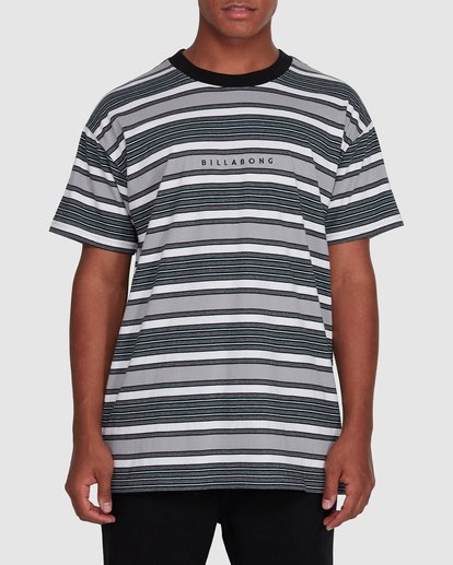 0 Mix Up Stripe Short Sleeve Tee Grey 9503037 Billabong
