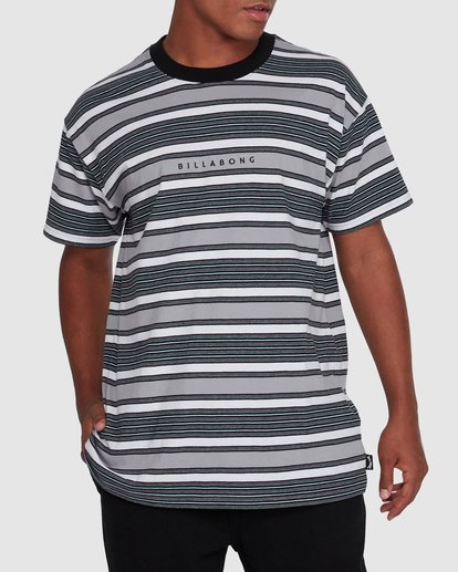 1 Mix Up Stripe Short Sleeve Tee Grey 9503037 Billabong