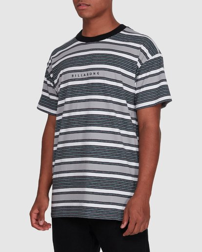 2 Mix Up Stripe Short Sleeve Tee Grey 9503037 Billabong