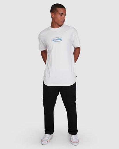 6 Surf Supply Short Sleeve Tee White 9503038 Billabong