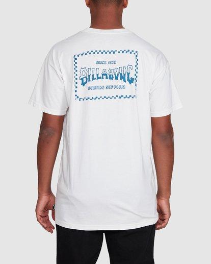 3 Surf Supply Short Sleeve Tee White 9503038 Billabong