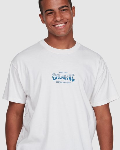 4 Surf Supply Short Sleeve Tee White 9503038 Billabong