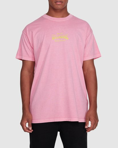 0 Surf Supply Short Sleeve Tee Pink 9503038 Billabong