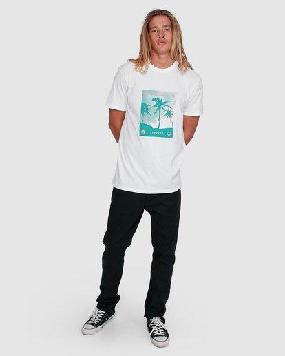 6 Cut Palm Short Sleeve Tee White 9503039 Billabong