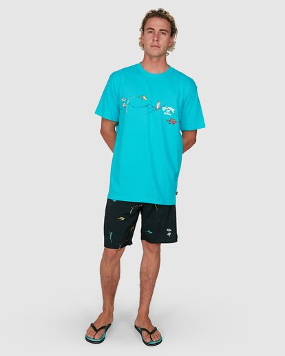 7 Dr. Seuss One Fish Two Fish Tee Blue 9503080 Billabong