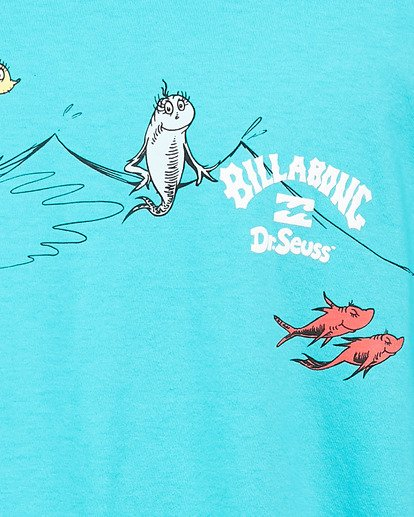 4 Dr. Seuss One Fish Two Fish Tee Blue 9503080 Billabong