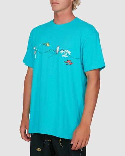 1 Dr. Seuss One Fish Two Fish Tee Blue 9503080 Billabong