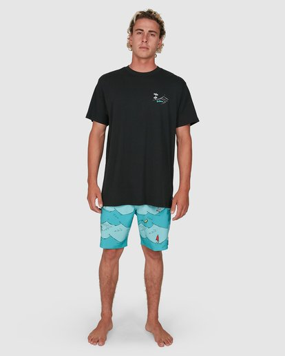 7 Dr. Seuss Red Fish Tee Black 9503082 Billabong