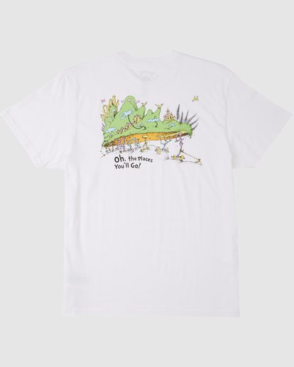 6 Dr. Seuss Oh The Places You'll Go Tee White 9503083 Billabong