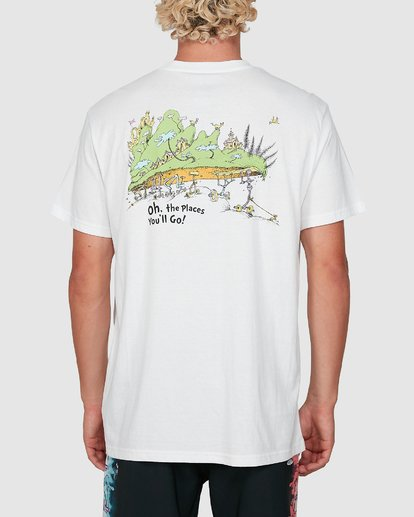 2 Dr. Seuss Oh The Places You'll Go Tee White 9503083 Billabong