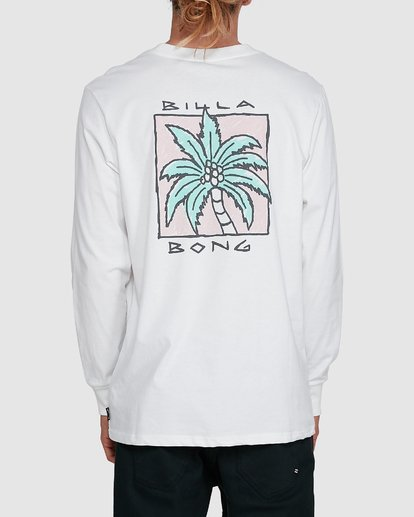3 King Palm Long Sleeve White 9503172 Billabong