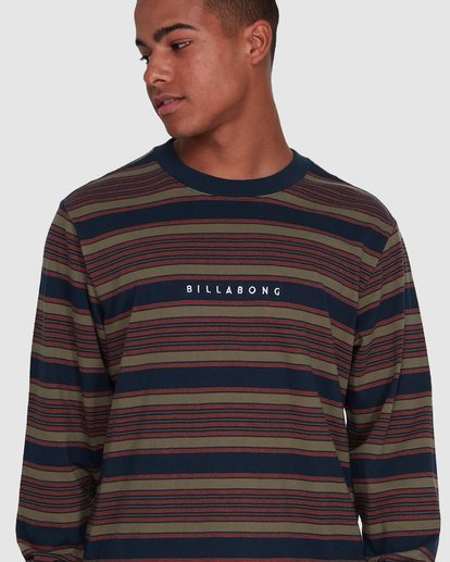 4 Mix Up Stripe Long Sleeve Blue 9503175 Billabong