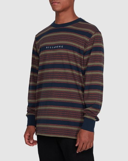 2 Mix Up Stripe Long Sleeve Blue 9503175 Billabong
