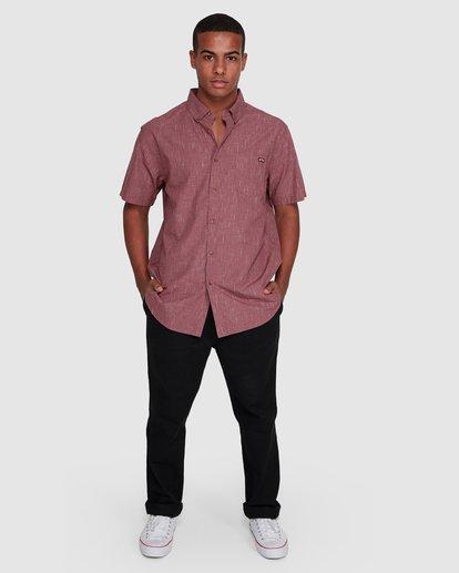 6 All Day Short Sleeve Shirt Red 9503200 Billabong