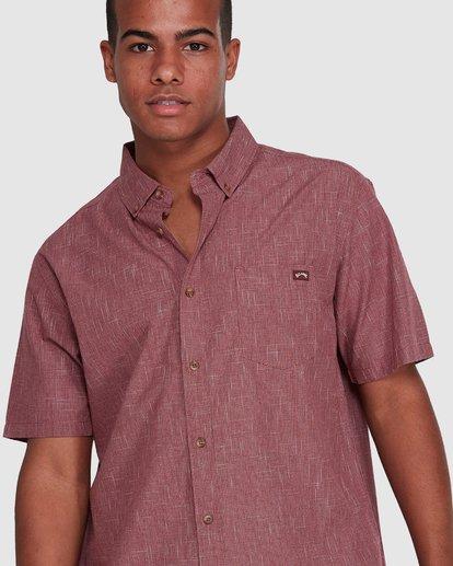 4 All Day Short Sleeve Shirt Red 9503200 Billabong