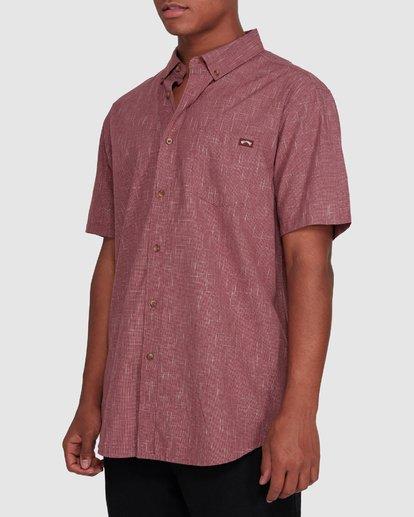 2 All Day Short Sleeve Shirt Red 9503200 Billabong