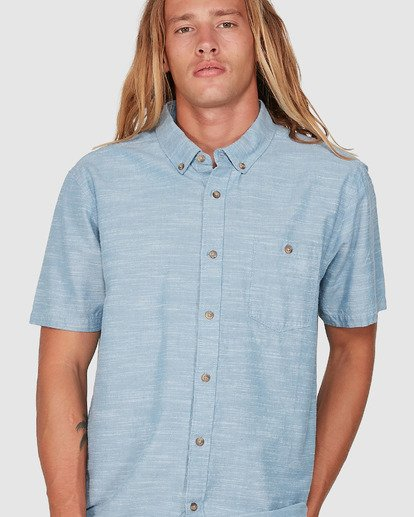 3 All Day Short Sleeve Shirt Blue 9503200 Billabong