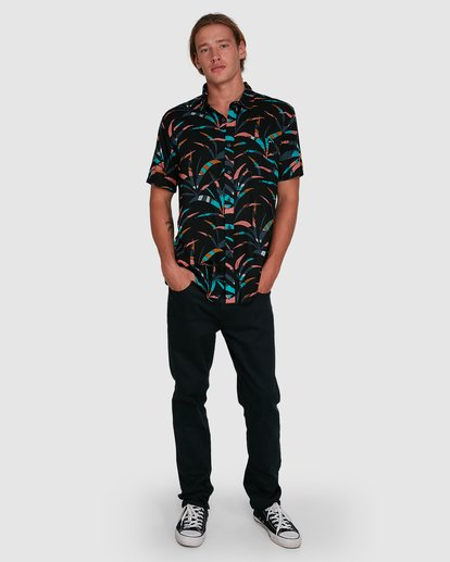6 Sundays Floral Short Sleeve Shirt Black 9503202 Billabong