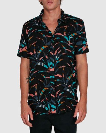 0 Sundays Floral Short Sleeve Shirt Black 9503202 Billabong