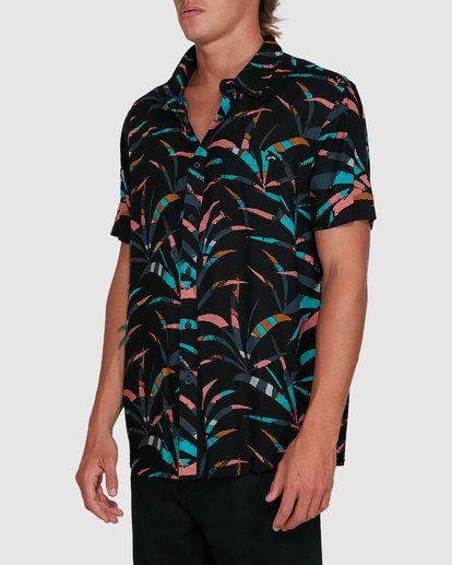 2 Sundays Floral Short Sleeve Shirt Black 9503202 Billabong