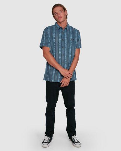 6 Sundays Jacquard Short Sleeve Shirt Blue 9503204 Billabong