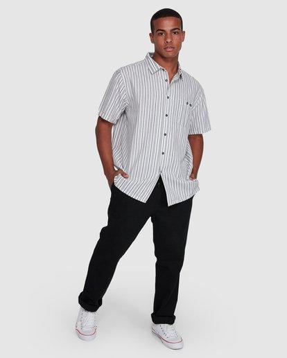 6 Sundays Jacquard Short Sleeve Shirt White 9503204 Billabong