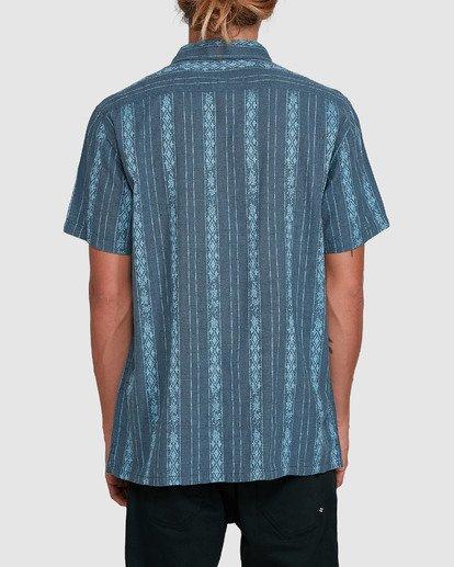 3 Sundays Jacquard Short Sleeve Shirt Blue 9503204 Billabong