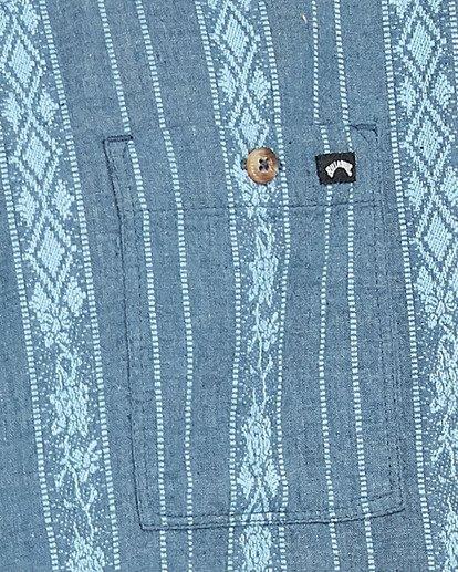 5 Sundays Jacquard Short Sleeve Shirt Blue 9503204 Billabong