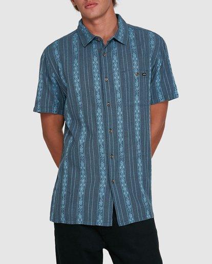 1 Sundays Jacquard Short Sleeve Shirt Blue 9503204 Billabong