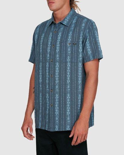 2 Sundays Jacquard Short Sleeve Shirt Blue 9503204 Billabong