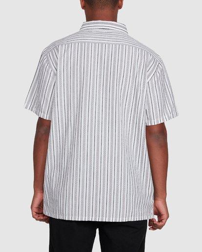 3 Sundays Jacquard Short Sleeve Shirt White 9503204 Billabong