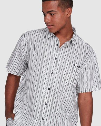 4 Sundays Jacquard Short Sleeve Shirt White 9503204 Billabong