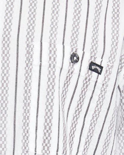 5 Sundays Jacquard Short Sleeve Shirt White 9503204 Billabong