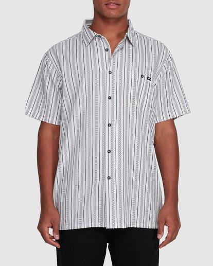 0 Sundays Jacquard Short Sleeve Shirt White 9503204 Billabong