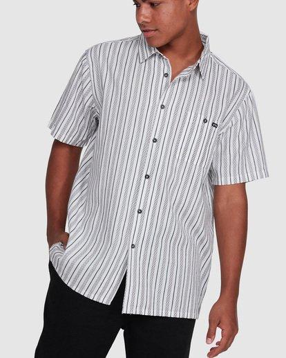 1 Sundays Jacquard Short Sleeve Shirt White 9503204 Billabong