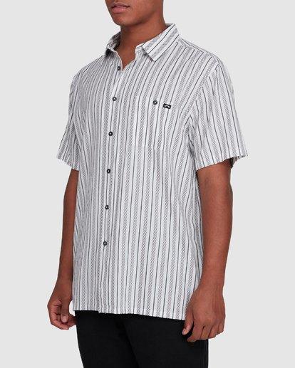 2 Sundays Jacquard Short Sleeve Shirt White 9503204 Billabong