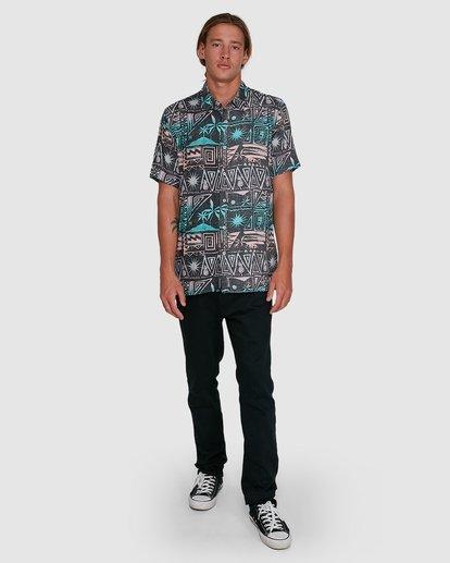 6 Sundays Tribes Short Sleeve Shirt Grey 9503207 Billabong