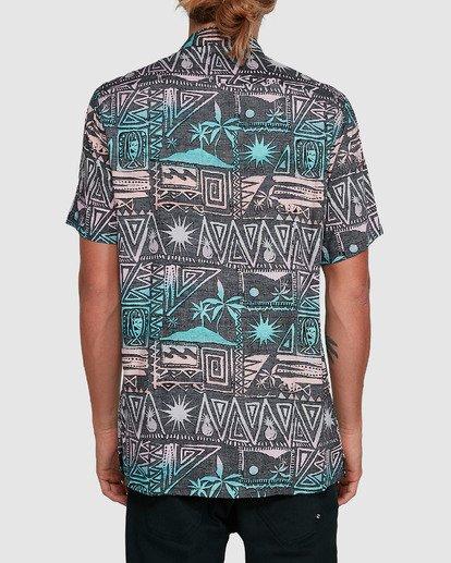 3 Sundays Tribes Short Sleeve Shirt Grey 9503207 Billabong