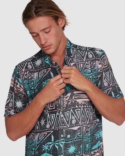 4 Sundays Tribes Short Sleeve Shirt Grey 9503207 Billabong